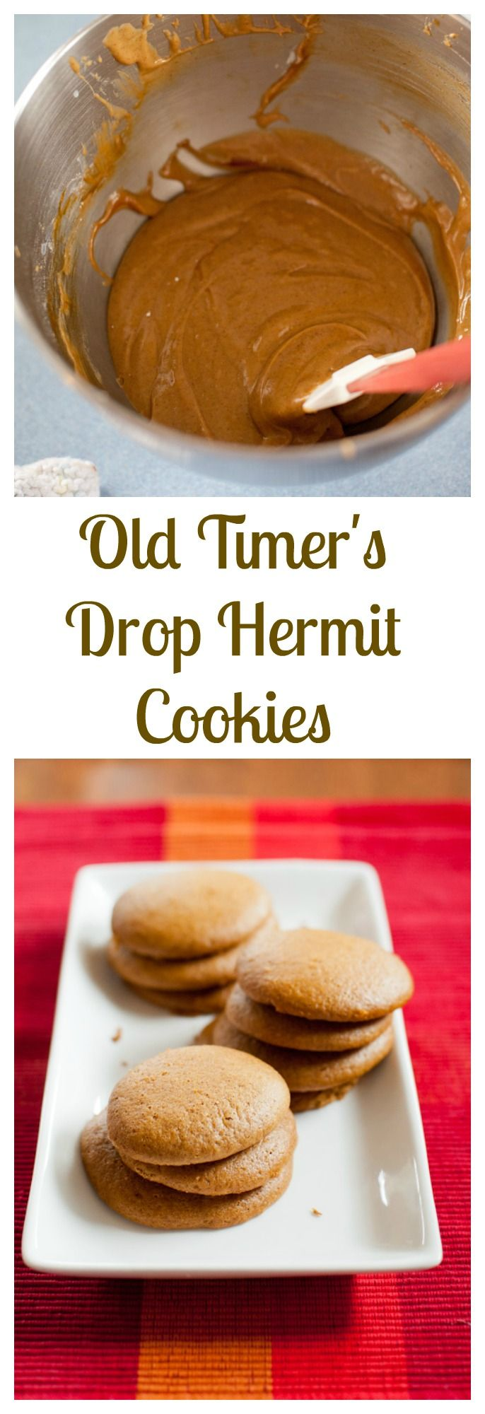 Antique recipe for Drop Hermit cookies - a delicious molasses flavor cookie with the texture of a cupcake top! bloggingwithapples.com