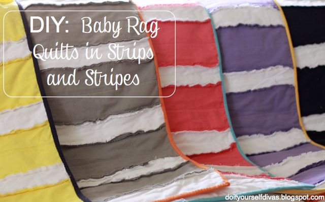 This is a baby rag quilt but could make it a bit bigger for a throw blanket.  Very cute! do it yourself divas: