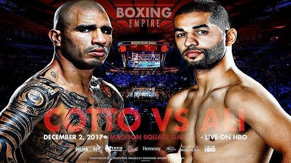 Watch MIGUEL COTTO VS SADAM ALI LIVE STREAM BOXING ON SAT 2 DEC 2017 on your PC, laptop, Mac, Ipad, Tab, Ps4/3, I-phone Android or any other online device.