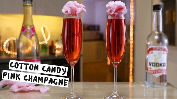 COTTON CANDY PINK CHAMPAGNE 1 oz. (30ml) Vodka 4 oz. (120ml) Pink Champagne Garnish: Cotton Candy PREPARATION 1. Place cotton candy inside champagne flute and pour over vodka. 2. Top with pink champagne and add more cotton candy as garnish. DRINK RESPONSIBLY!