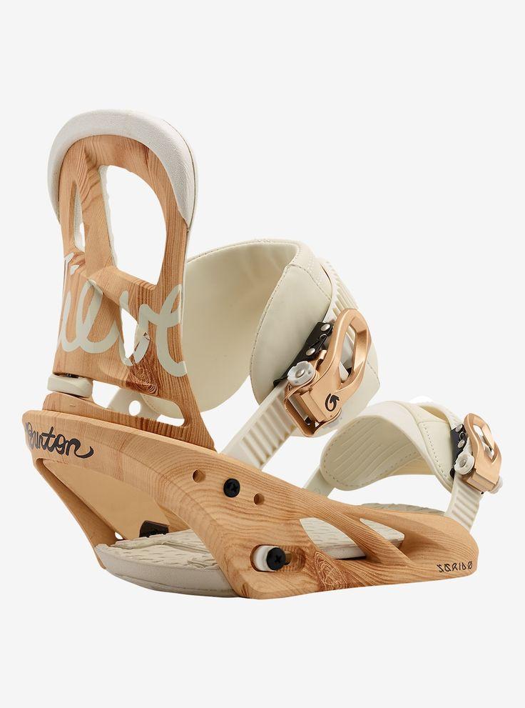 Burton Scribe Snowboard Binding shown in Timber