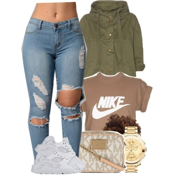5/3/16 by yasnikki on Polyvore featuring Current/Elliott, MICHAEL Michael Kors, Movado and NIKE