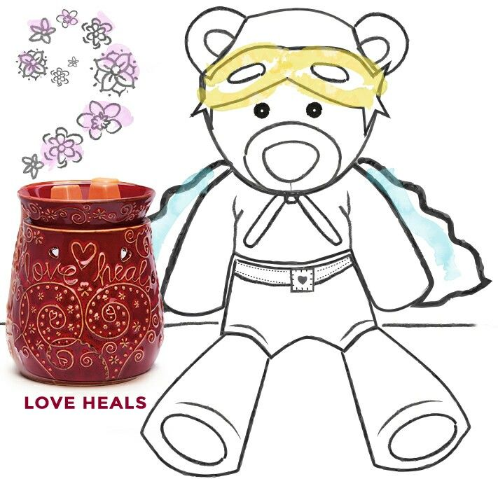 love our hero buddy bear and our scentsy love warmer as they both help with fundings for star light foundations in our hospitals for those with evil cancer