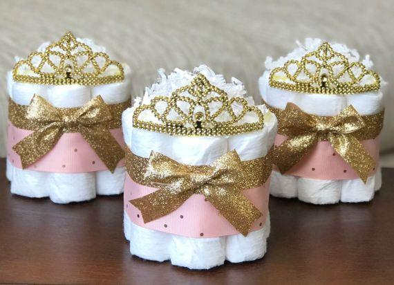 Princess Diaper Cake Baby Shower Decor Centerpiece Present