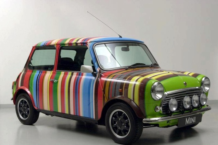Eighty-six stripes and twenty-four colours? It could only be the iconic Paul Smith Mini, 1998.