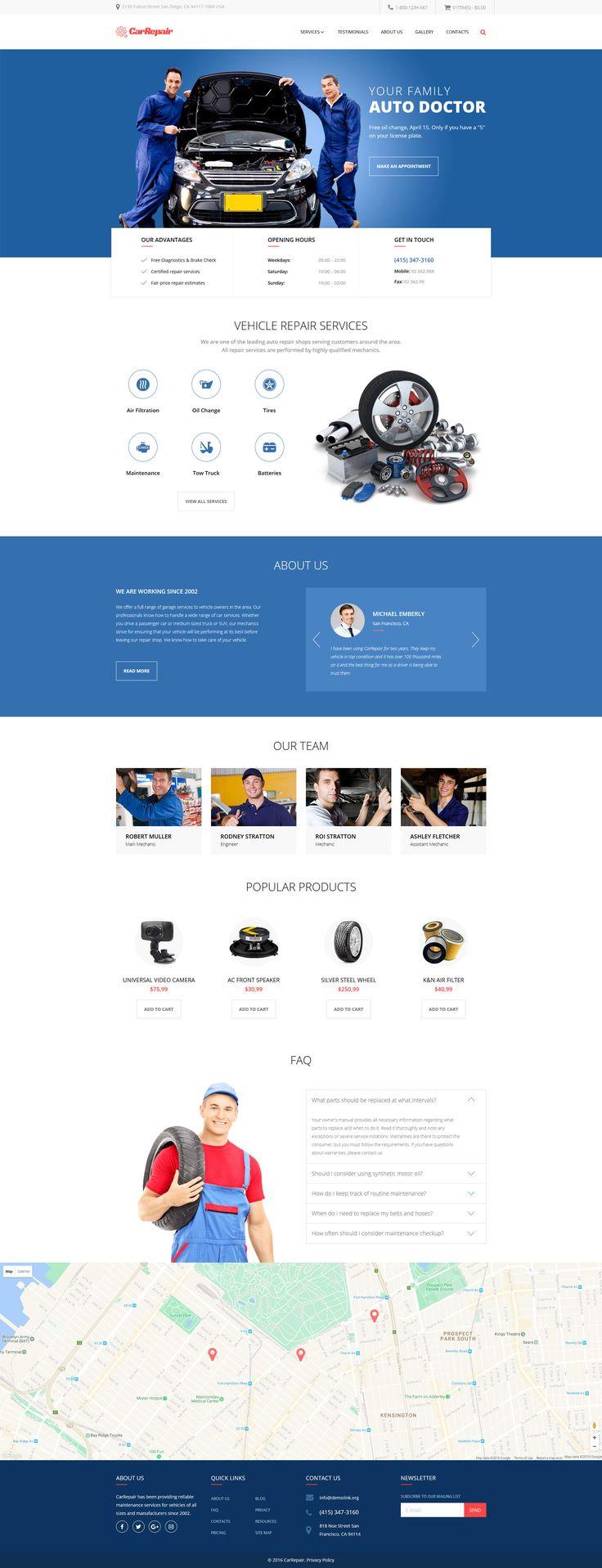 Car repair car repair service responsive website template