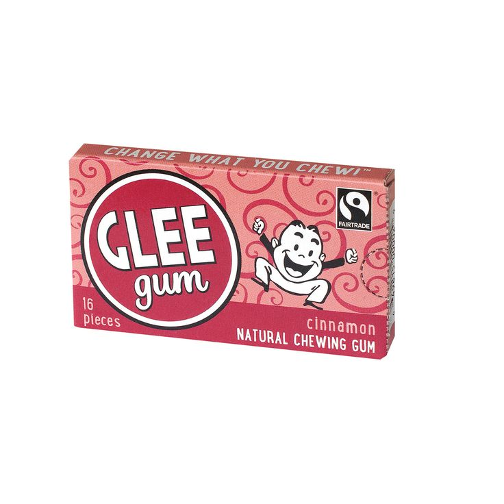 Glee Gum Chewing Gum - Cinnamon - 16 Pieces - Case of 14