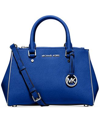 Women\u0027s Top-Handle Handbags - MICHAEL Michael Kors Specchio Sutton Small  Satchel in Electric Blue -- Check out this great product.