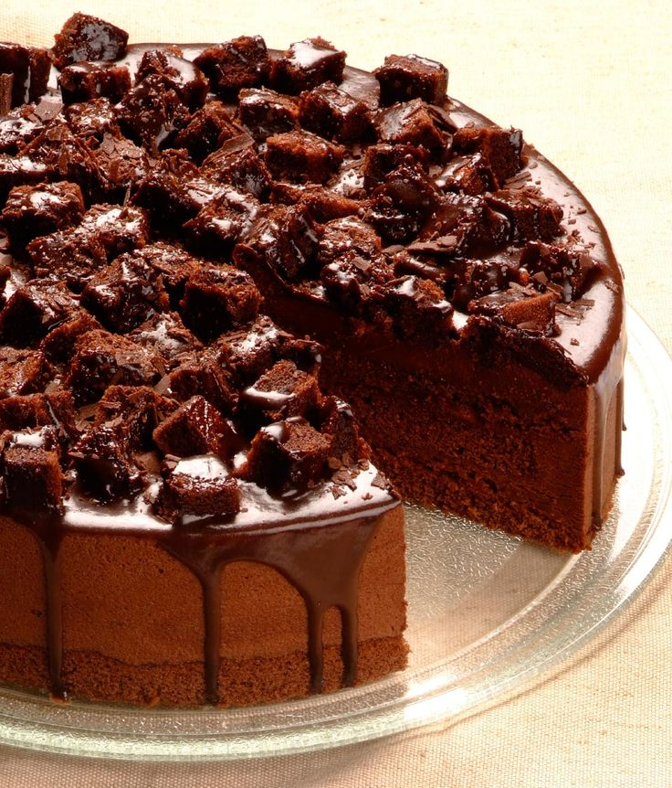 Death By Chocolate: 1 x 24cm Layer upon layer of dense chocolate sponge with dark, rich, silky smooth filling in between. Large chunks of Death by Chocolate sponge provide texture and make it irresistable.