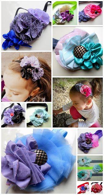 hair band for babys, diy, hair flower,