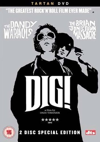 DIG!: It's hard to watch Dig! and not feel some affection for the hip and guileless characters that populate its chaotic world. But beneath the warmth of Ondi Timoner's documentary--an insider's view of seven years in the company of Californian alt-rockers The Dandy Warhols and The Brian Jonestown Massacre--are archetypal themes of friendship and ambition that place Dig! near the top of the pantheon of great music documentaries.