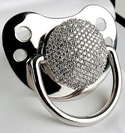 Diamond baby pacifier