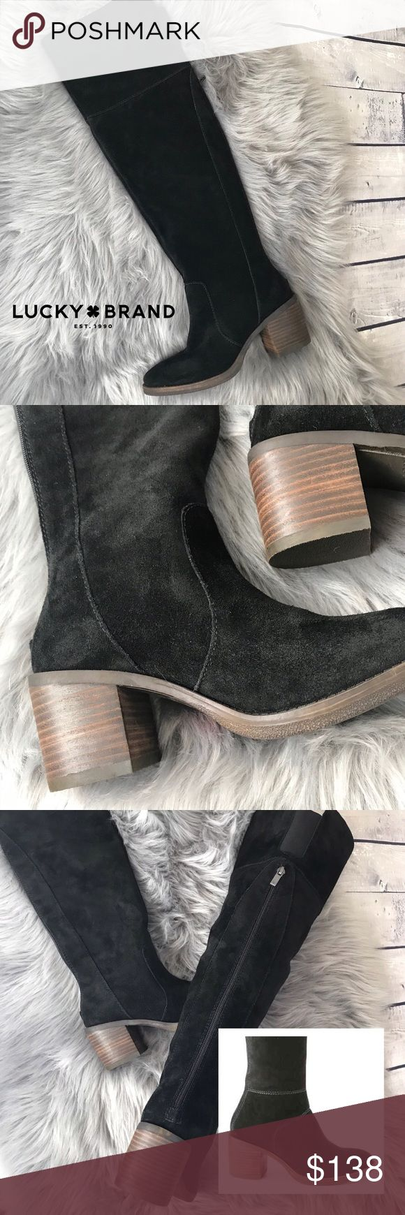 New! suede over-the-knee riding boot