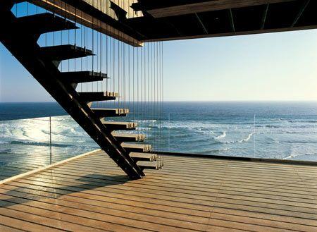 Staircase, Casa 11Mujeres (11 Women House) by Mathias Klotz, Santiago/Chile
