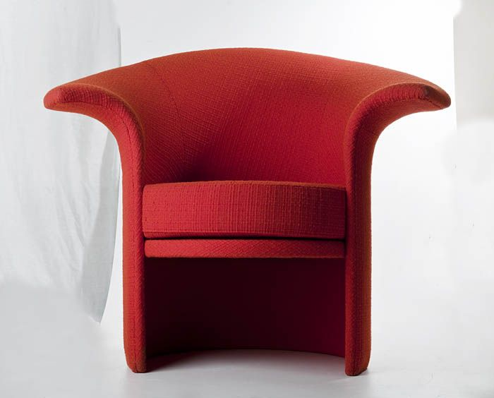 "Teresa Kruszewska, ""Tulip"" armchair, produced by the People's Guard Furniture Factory in Radomsko, 1973, Collections of the National Museum in Warsaw"