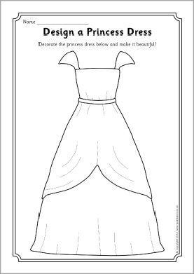 design a princess dress worksheet sb10670 sparklebox princess birthday princess dressesdisney princess activitiesprincess