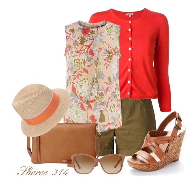 A Stroll in the Park by sheree-314 on Polyvore featuring Etro, P.A.R.O.S.H., Mother, Jessica Simpson, FOSSIL, Maison Michel and Dolce&Gabbana