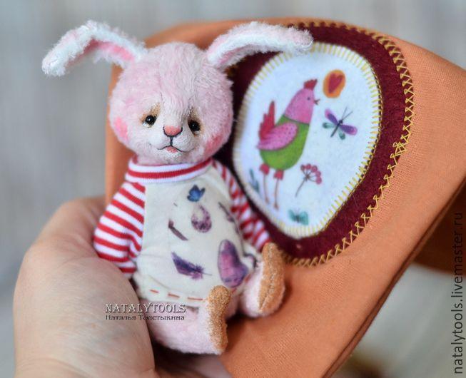 bunny hare rabbit natalytools toy ooak doll spring handmade soft easter egg Купить заяц-кролик Пасхальный, коллекционная игрушка заяц кролик пасха - комбинированный, весна, Пасха