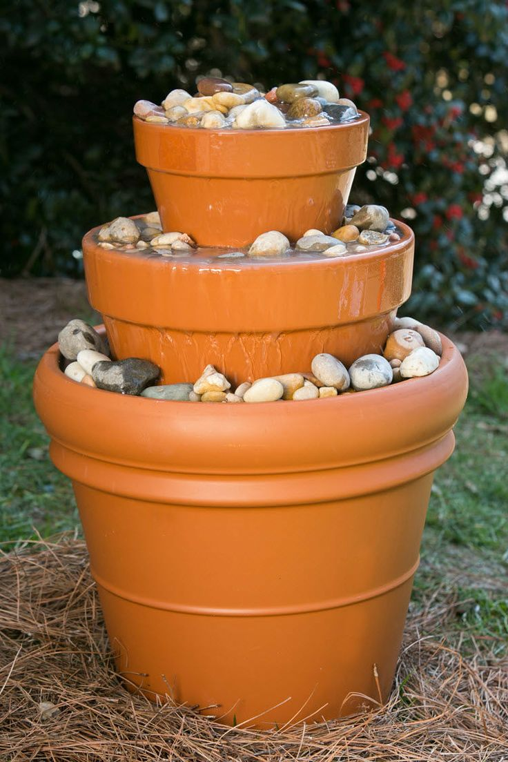 100 ideas to try about backyard ideas string lights for Pot water fountain designs