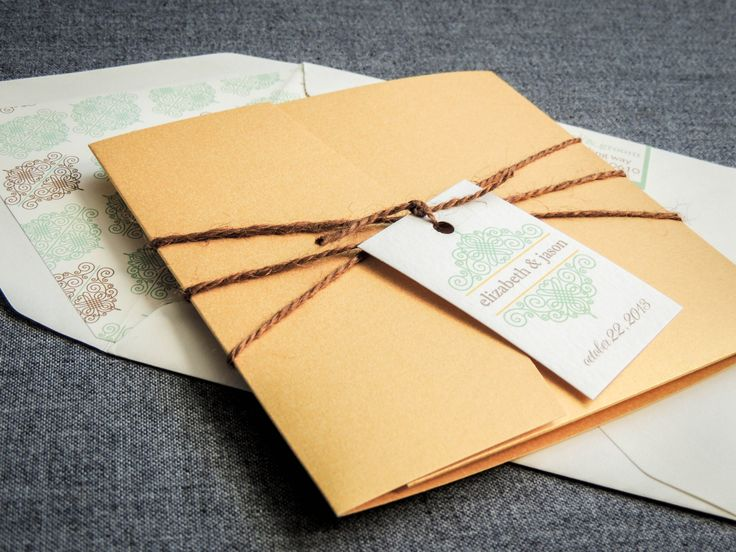 Mint and Gold Wedding Invitations Mint Green by JulieHananDesign