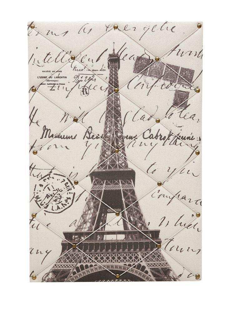 Paris Memo Pin Board.