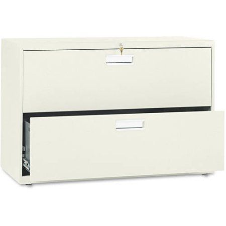 692LL HON 600 Series Standard Lateral File - 42 inch x 19.3 inch x 28.4 inch - Steel - 2 x File Drawer(s) - Legal, Letter - Interlocking, Leveling Glide, Ball-bearing Suspension, Recessed Handle, Label Holder, Du, Multicolor