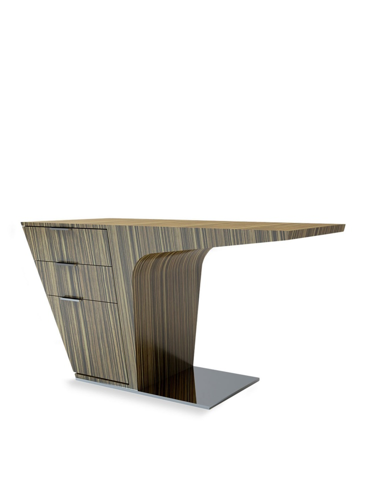 Mercer Desk In Zebrano Lacquer By Modloft · Mid Century ...