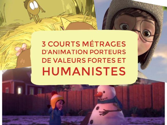 Aller au bout de ses rêves, aider les autres, prendre soin des gens qu'on aime, s'émerveiller : 3 courts métrage d'animation porteurs de valeurs fortes et humanistes à regarder en famille (ou à l'école) !