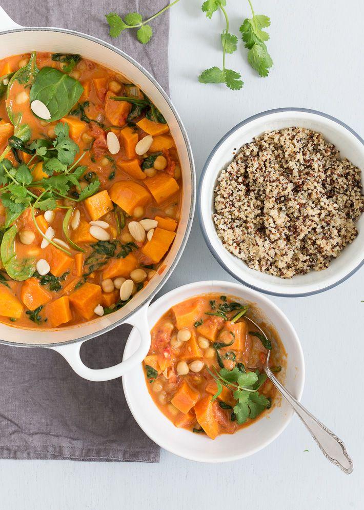 Lekker makkelijk. Een zoete aardappel curry met een Indiaas tintje door het gebruik van Massala.