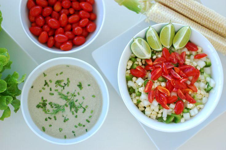 Crunchy Corn Salad with Creamy Dill Dressing