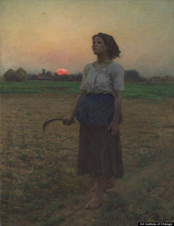""","""" a painting that truly moved him.  The painting, The Song of the Lark, by 19th-century French realist painter Jules Breton, depicts a young peasant woman working in a field at sunrise.  Bill Murray credits the painting with saving his life."""