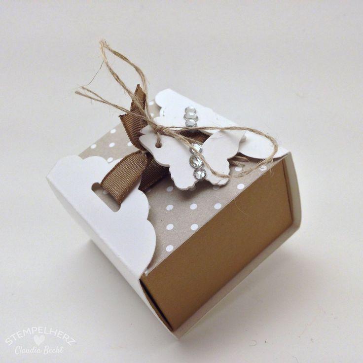 Stampin Up - Stempelherz - Pralinenschachtel - Verpackung - Box - Schmetterlingsstanze - Stanze Gewellter Anhänger - Pralinenverpackung Schmetterling 02