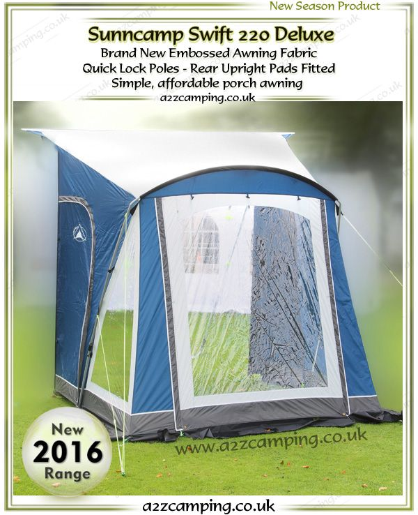 2016 Sunncamp Swift 220 Deluxe Caravan Porch Awning