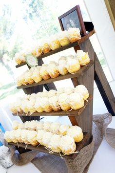 rustic cupcake stands for weddings - Google Search