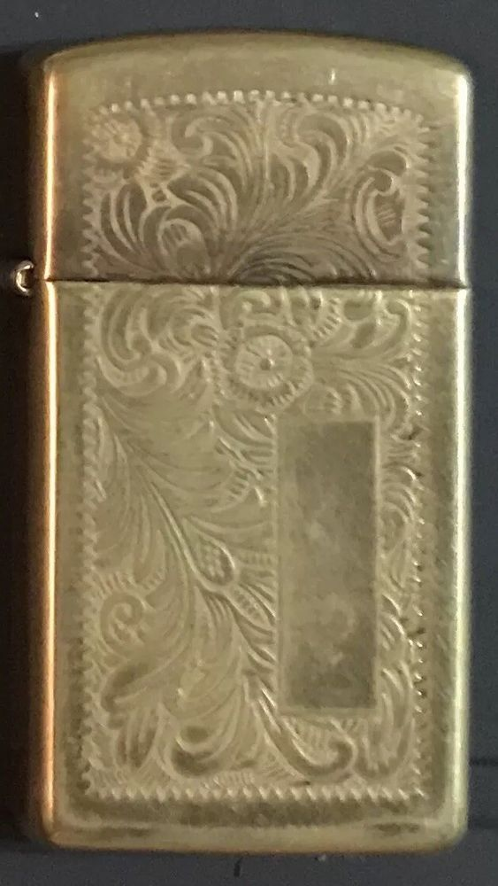 1997 BRASS VENETIAN ZIPPO SLIM WINDPROOF LIGHTER Dependable Flame HDSA  | eBay