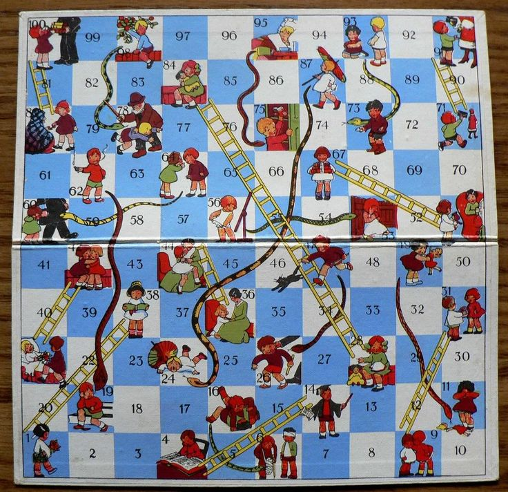 how to make a snakes and ladders board