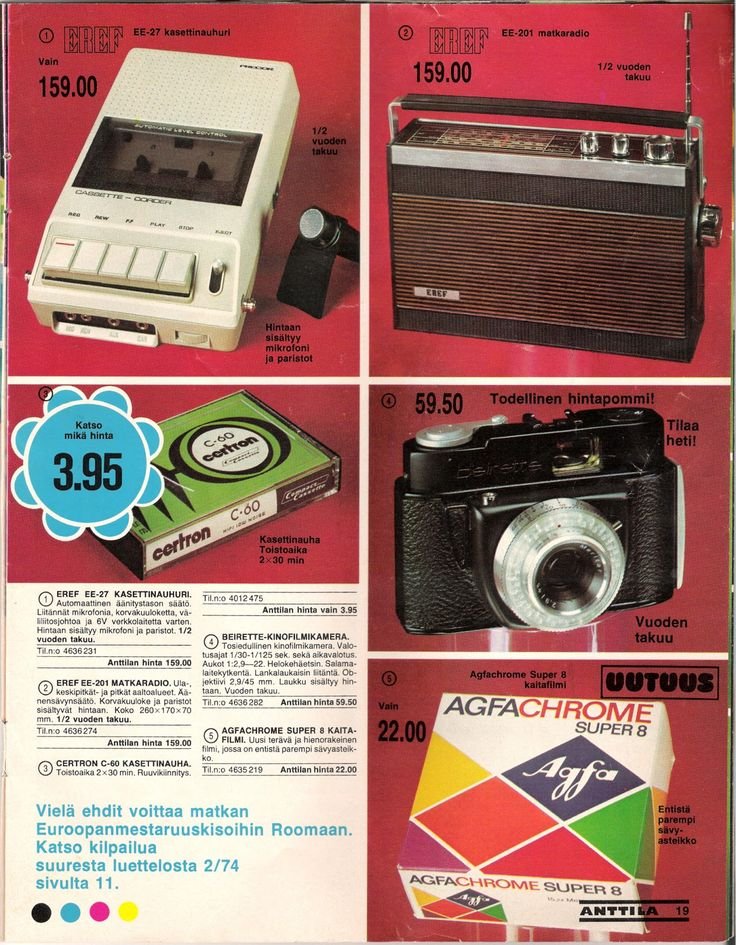 Anttilan luettelosta 1974