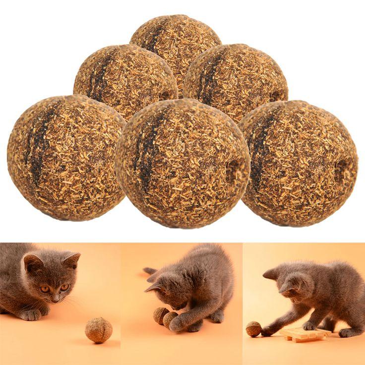 Wysokiej Jakości 3 SZTUK Naturalne Mentol Smak Kota Traktuje Kocimiętka Piłka Piłka Zabawka Dla Kota Zabawki Dla Kotów Kotek Najlepszej Cenie