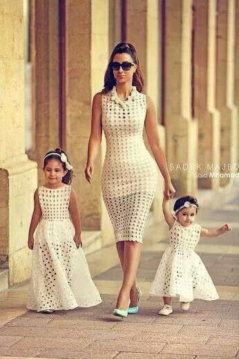 Mom and daughters matching