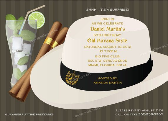 havana nights theme party | Havana Nights Party Invitation 25 Quantity by SocialImagesInc