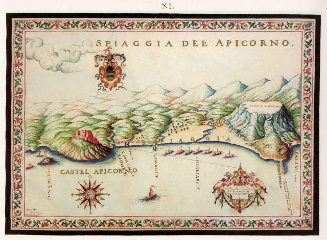 Η παραλία του Αποκόρωνα με το ομώνυμο φρούριο. .. Francesco Basilicata..για την Κρήτη...1618 - 1638.