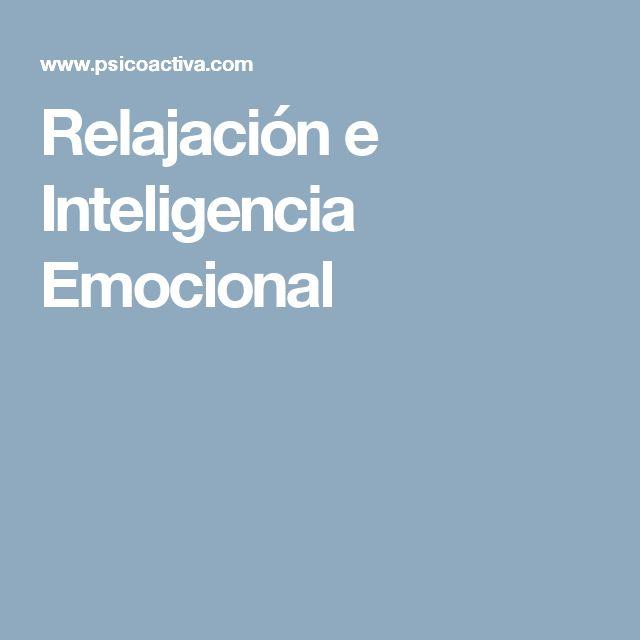 Relajación e Inteligencia Emocional