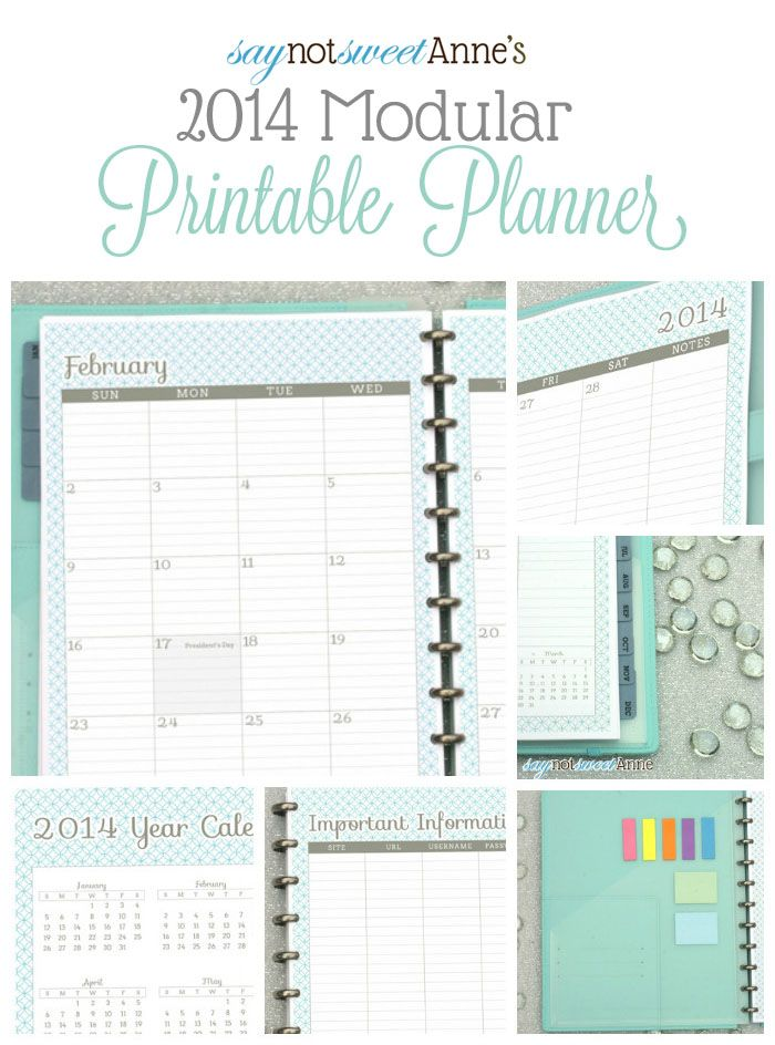 Amazing Printable Planner! Oct '13 - Dec '14 with tons of choices! Meal planning, lesson planning, kid sport tracking etc! | from saynotswee...
