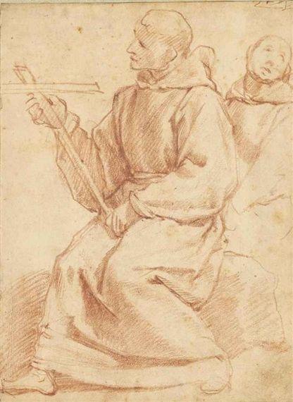 Raffaello Vanni, Two mendicant friars with a crucifix