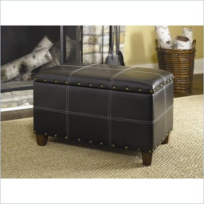 Hammary Hidden Treasures Storage Ottoman Trunk In Black     Lowest Price  Online On All Hammary Hidden Treasures Storage Ottoman Trunk In Black