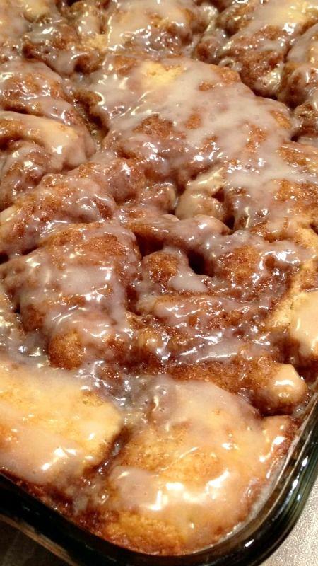Cinnamon Bun Cake Recipe ~ so good and so easy to make.