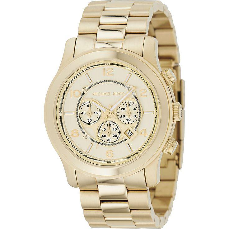 MICHAEL Michael Kors Oversized Gold Runway Watch - eBags.com