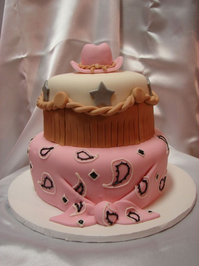 cowgirl cake | Thanks to DiameLM for the great idea! Needed to girl it up a little so ...