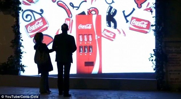 Spreading the love: In recognition of Valentine's Day this year, Coca-Cola went about inst...