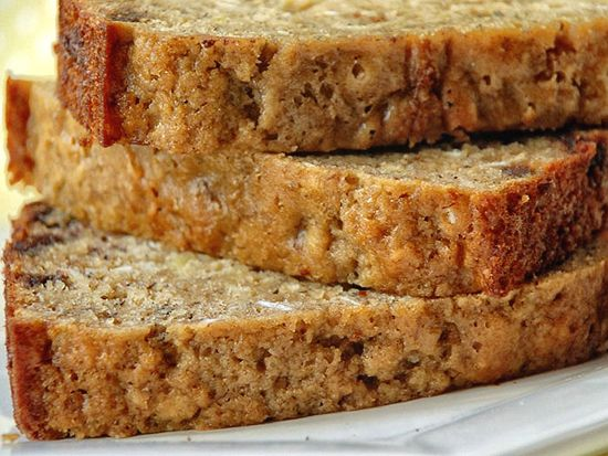 A whole grain delicious quick bread with bananas and the added sweetness of the chocolate chips.